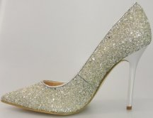 Guess-Glitter-Pump-Dress Shoe-Metalic Heel-Neodany